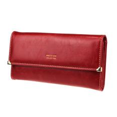 Fashion Lady Women Retro Purse Clutch Wallet Long Card Holder Bag Red