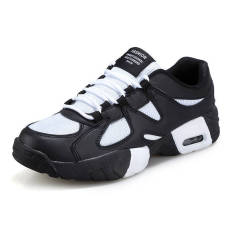 Fashion Men Basketball Sport Breathable Low Cut Sneakers-Black