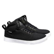 Fashion Men Skidproof Hard-wearing High Cut Casual Shoes Causual Sports Shoes Sneakers 39 (Black) - Intl