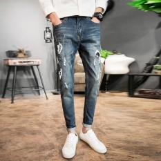 Fashion men summer trousers haulun beggars pants stretch beggars Korean version of the pants trousers - intl