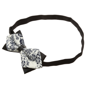 Fashion Men Wedding Bowtie Novelty Tuxedo Necktie Bow Tie Adjustable 7 - Intl