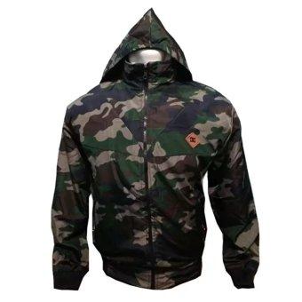 fashion pria jaket DC parasut Bolak-balik army-hitam keren