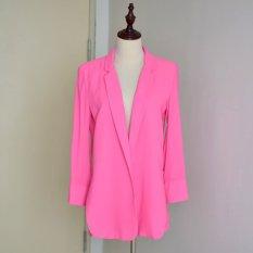 Fashion Sunscreen Chiffon Solid Women Blazer 2016 New Summer Elegant Long Suit Blouse For Women Stylish Lady Office Wear