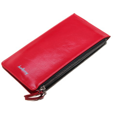 Fashion Women Clutch Long Leather Purse Lady Wallet Card Holder Handbag Red