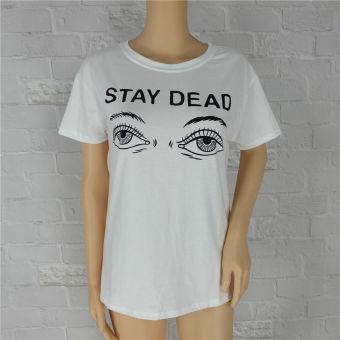 Fashion Women Short Sleeve Casual Blouse T-Shirt - Intl