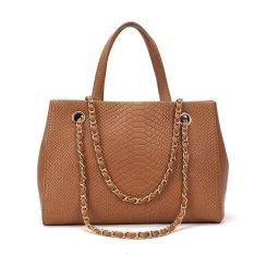 "Fashion Women""s Crocodile Pattern Chain Leather Handbag Shoulder Bag Tote"