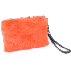 Fashion Women's Elegant Clutch Bag Faux Fur Handbag Wallet Candy Color Clutch - Intl
