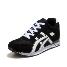 Fashion Women's Lace-up Sneakers Sports Running Shoes Black (Intl)