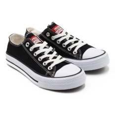 Faster Sepatu Sneakers Kanvas Pria 1603-01 - Hitam/Putih 40-45