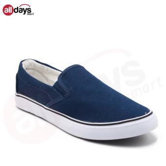 Faster Sepatu Sneakers Kanvas Pria 1603-05 - Navy/Putih