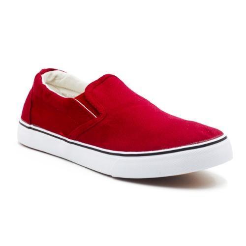 Faster Sepatu Sneakers Kanvas Wanita 1603-06 - Maroon-Putih