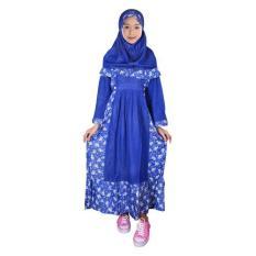 Fayrany Busana Muslim Anak Gamis Motif FGM-001D - Biru