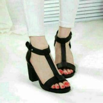 Femine - Sepatu Sandal High Heels Wanita US19 - Hitam