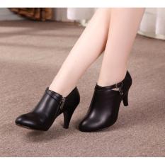 Femine - Sepatu Wanita High Heel Pantofel HP01 - Hitam
