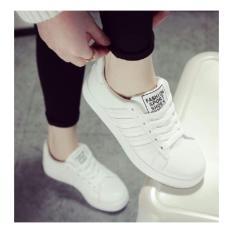 Femine - Sepatu Wanita Kets Sport Casual Polos PL01 - Putih
