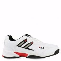Fila Barca 2 Sepatu Tenis - White/Red/Black