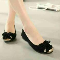 Flat Shoes Sepatu Kerja Lolita Hitam