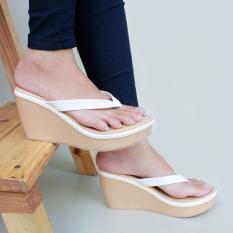 Flip Flops Wedge Sandals - Putih