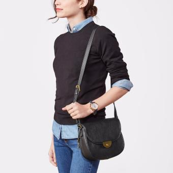 Jual Fossil Logan Large Satchel Black ZB 6974001 BLANJA com Source · Fossil  Black Crossbody Ladies 253c24526f