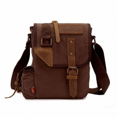 Free Ship Hot Classic MAN's Canvas Shoulder Bag Women's Vintage Canvas School Military Shoulder Bag Canvas Messenger Bag LI-1295 - Intl