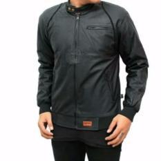 Ftex jaket semi leather ariel list hitam