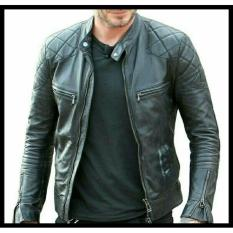 Ftex jaket semi leather BECKHAM style hitam