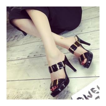 Fuboshoes Sepatu Wanita High Heels Hanna Black