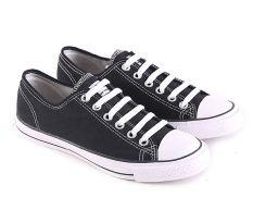 Garsel L081 Sepatu Sneaker / Sekolah Pria - Synth - Bagus (Hitam)