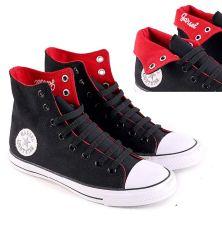 Garsel L084 Sepatu Sneaker / Sekolah Pria - Synth - Bagus (Hitam)