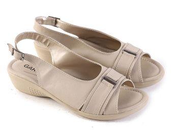 Garsel L391 Sandal Flat Wanita - Synth - Bagus (Cream)