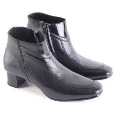 Garsel Sepatu Boots Formal Pantofel Kerja Kantor PDH PDL Kulit Asli Wanita - Hitam