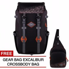Gear Bag Excalibur Mountaineering Backpack + FREE Excalibur Crossbody Bag Black
