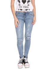 Jingle Women's Stretch Pencil Slim Skinny Jeans Trousers S-XL (Blue) (Intl)