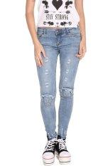 GETEK Women's Stretch Pencil Slim Skinny Jeans Trousers S-XL (Blue) (Intl)