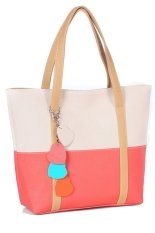 Ghope Women's Fashional Multicolor Shoulder Bag / Handbag / Messenger Bag Beige / Pink