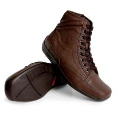 Gino Mariani Men's Shoes Elario 2 Leather- Coklat Tua