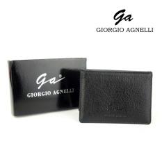 Giorgio Agnelli - Dompet Kartu Plastik Pria - Hitam - Kulit Asli - Black / Hitam ( Harga Rebutan )