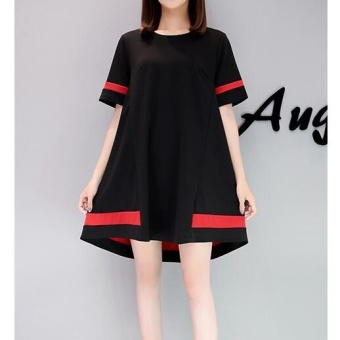 Girlhood Korea Korean fashion Big size dress Black - intl