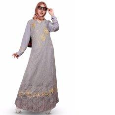 Glm-Dress Maxi -Gamis Brokat ( Abu Abu )