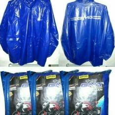 GMA Jas Hujan Setelan Karet PVC - Biru