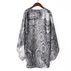 Gofuly NEW Top Brand New Fashion Womens Chiffon Printed Top Kimono Coat Cape Jacket Best M (Intl)