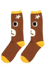 Gracefulvara Fashion Women Girls Soft Cotton Cartoon High Socks Hosiery Casual Stockings (Coffee)