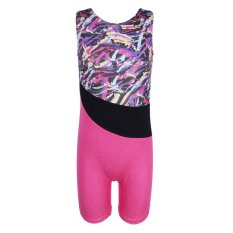 Graffiti Pattern One Piece Gymnastics Leotard Costume for Kid Girls - intl