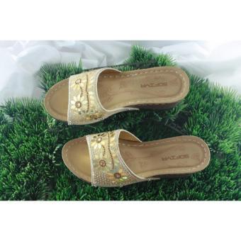 GRANDSHOES Sofiya 9072-4 Gold- sendal wanita high heels nyaman berkualitas