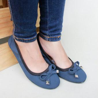 Gratica Sepatu Flat Shoes BD09PU - Navy