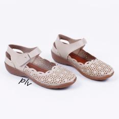 Grivera Sepatu Wanita Flat Shoes Laser MY13 - Cream