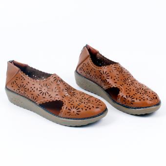Grivera Sepatu Wanita Flat Shoes Laser MY22 - Tan