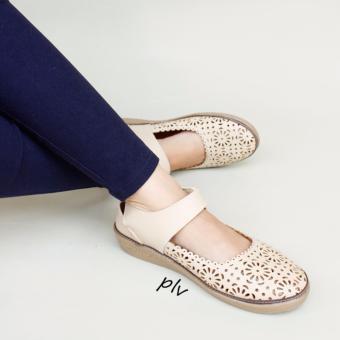 Grivera Sepatu Wanita Flat Shoes Laser MY81 - Cream
