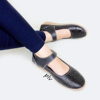 Grivera Sepatu Wanita Flat Shoes Laser MY81 - Hitam
