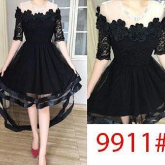 Grosir Dress-9911 Black